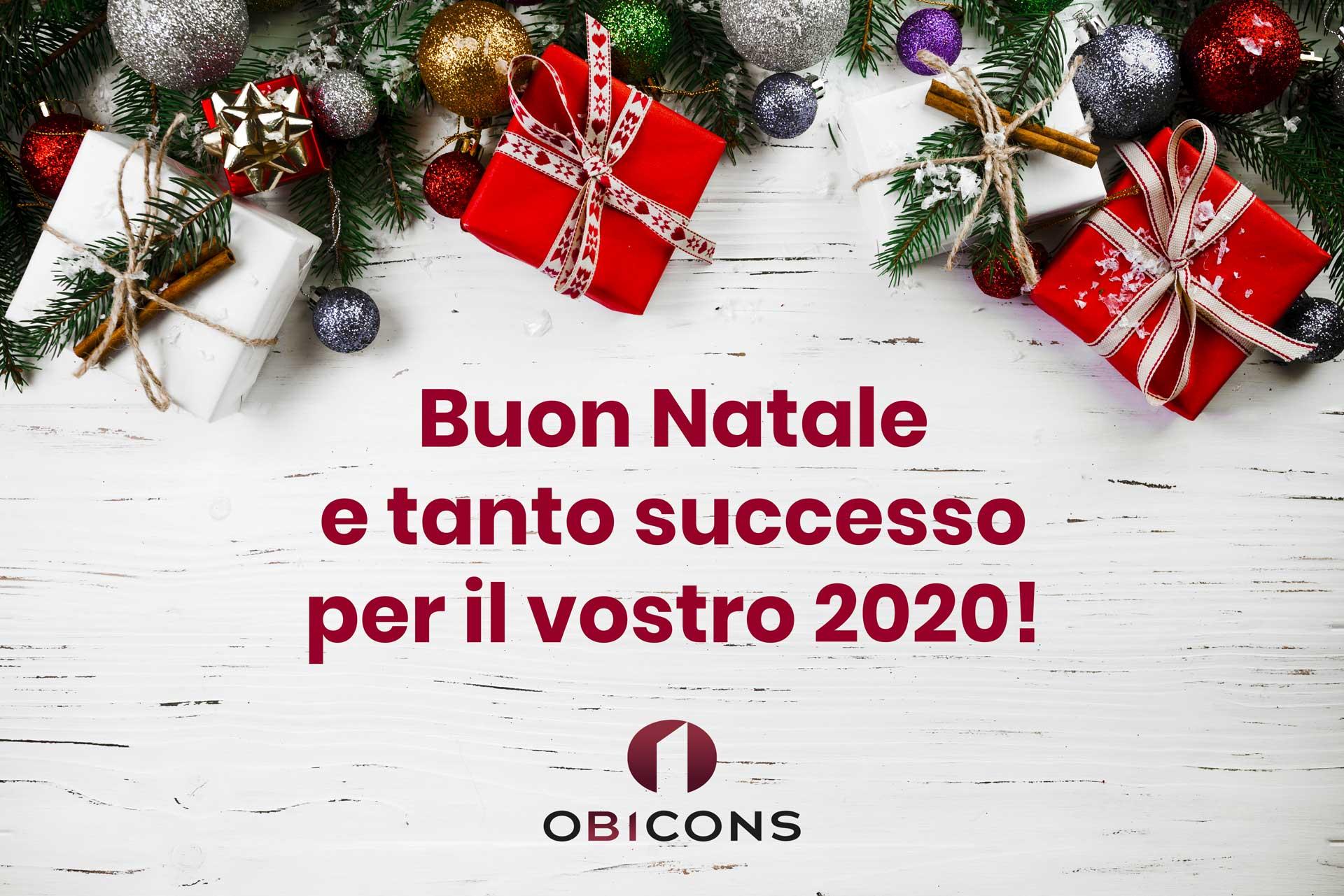 Buon Natale e tanto successo per il vostro 2020 da OBICONS