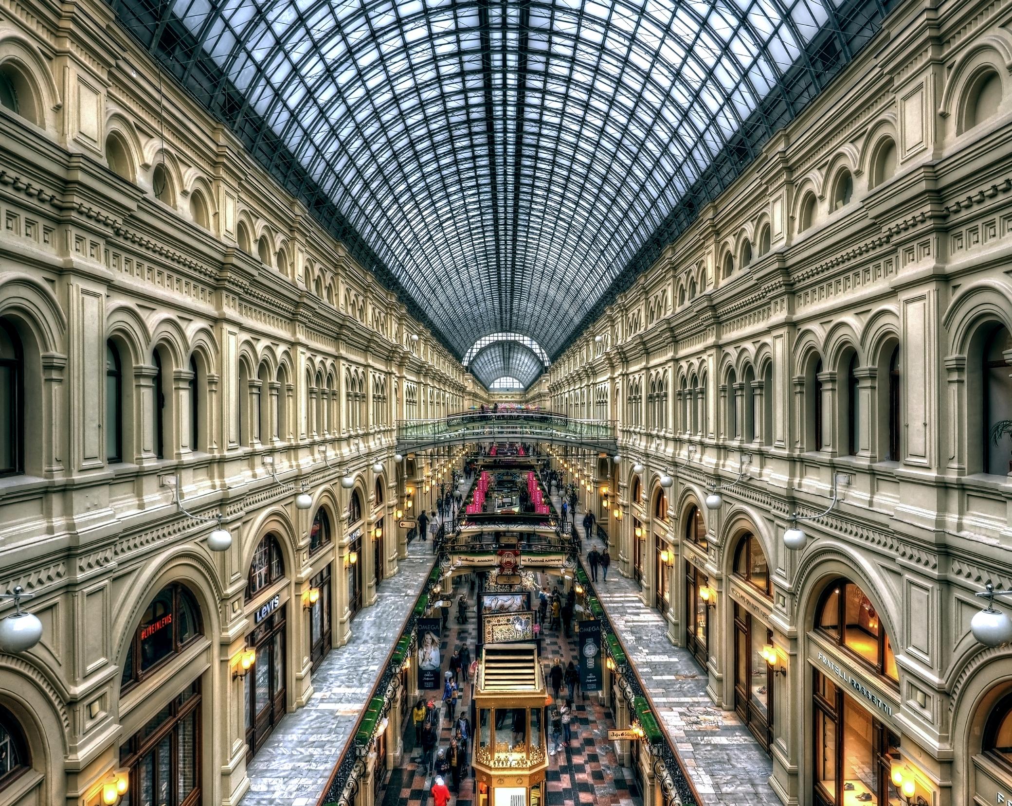 TSUM mall in Russia Piazza Rossa abbigliamento fashion lusso